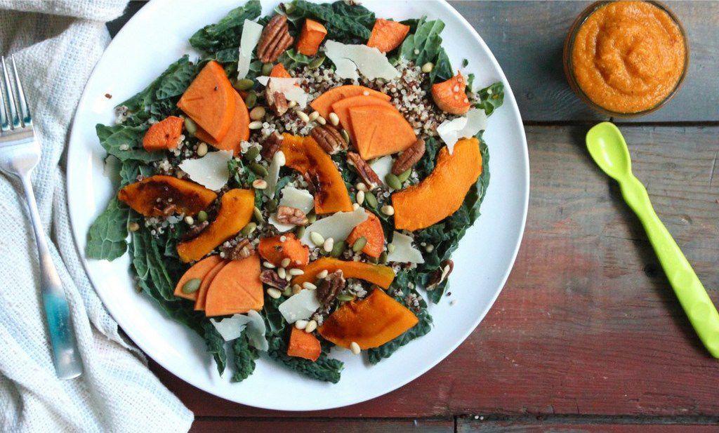 Pumpkin kale salad and pumpkin quinoa sweet potato baby food forumfinder Choice Image