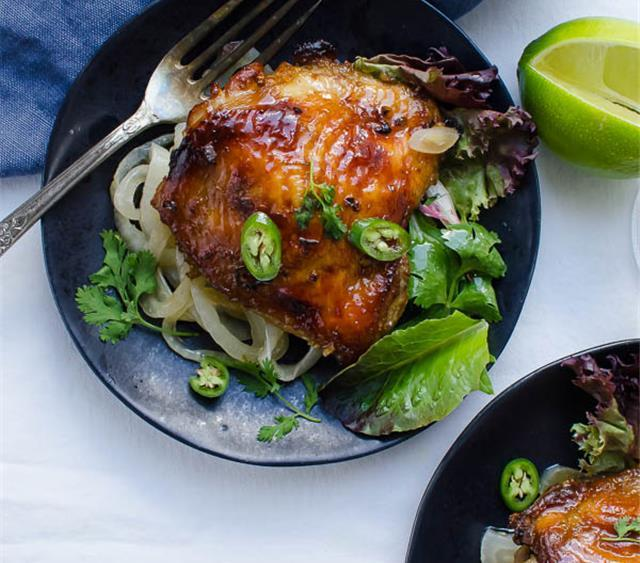 Juicy Asian Style Chicken Thighs