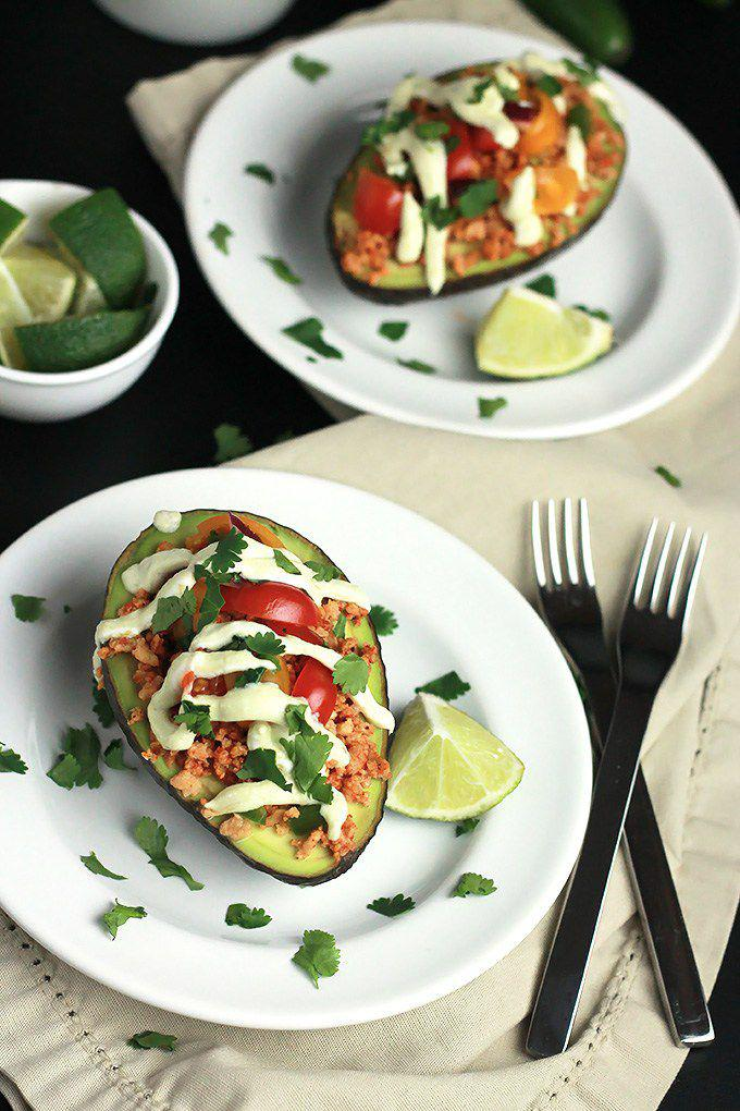 Sidechef step by step recipes vegan stuffed avocado forumfinder Image collections